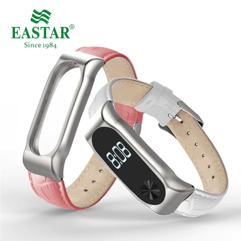 Colorful Leather Strap For Xiaomi Mi Band Smart Band Accessories For Xiaomi Miband 2 Smart Wristband Strap For Xiaomi Mi Band 2