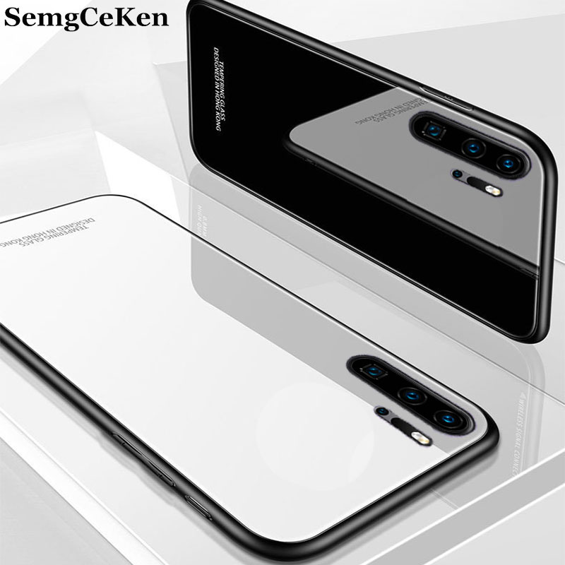 SemgCeKen mirror glass case for samsung galaxy note 10 pro note10 10pro luxury original silicone silicon hard back phone cover image