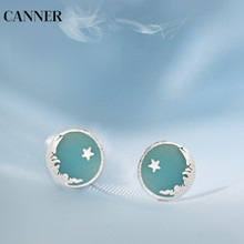 Canner Round Small Earing 925 Sterling Silver Sea Star Tiny Stud Earring For Women Girl Cute Jewelry Gift 2019 W4
