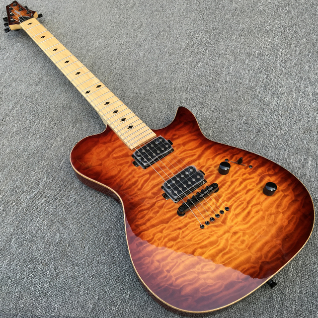 Aliexpress.com : Buy New Style Electric guitar, Body & Head with ... : quilted maple guitar tops - Adamdwight.com