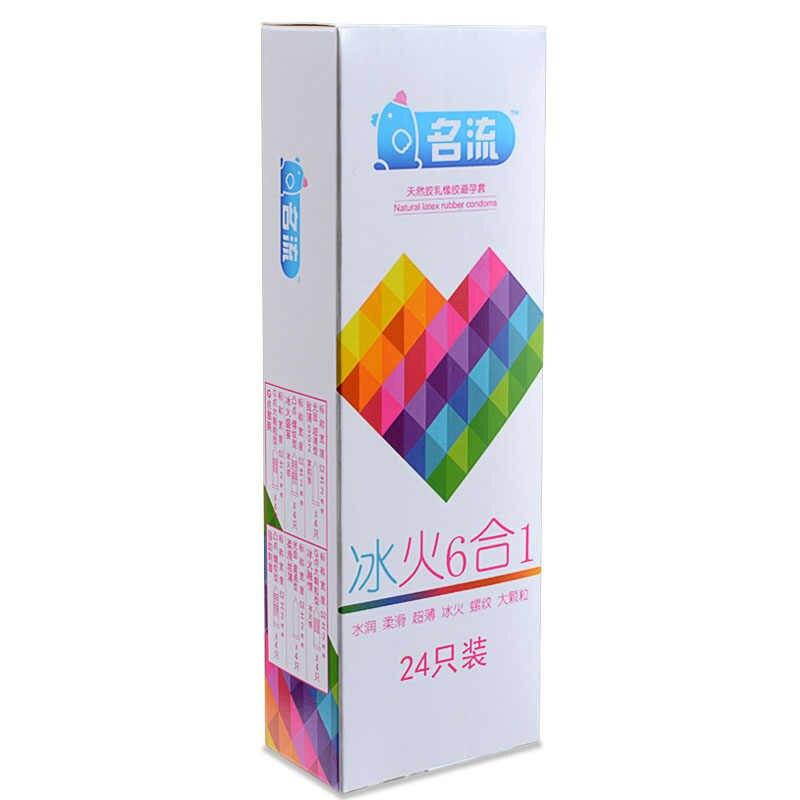 MingLiu Sei In Del Sesso 24PCS incredibile preservativi valore di alta qualità preservativi per cornea donne degli uomini giocattolo adulto del sesso