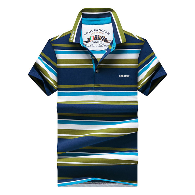 2016 Cotton Polo Shirts Men Polo Marca Striped Tee Short Sleeve Polo Striped Men's  Casual POLO Shirt New Fashion