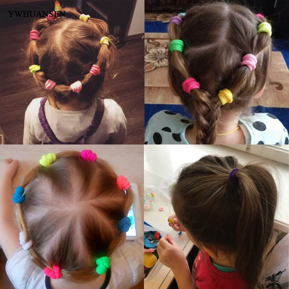 YWHUANSEN 20-100 stks / zak Geweldig haaraccessoires Nuttig Elastische voor de haar Mooi haarbanden voor vrouwen Mode haarband voor meisjes