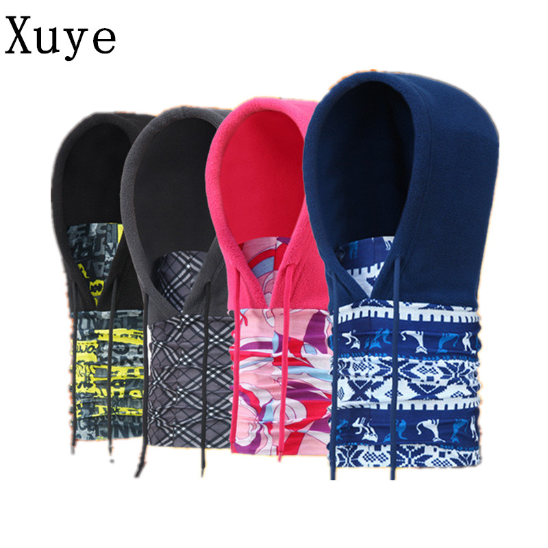 XUYE Men Women Winter Neck warmer windproof Motorcycle hat Thermal Fleece Beanies Skullies Balaclavas Face Mask Caps hats face skullies beanies mask motorcycle fleece winter warm beanies hats colorful neck warmer