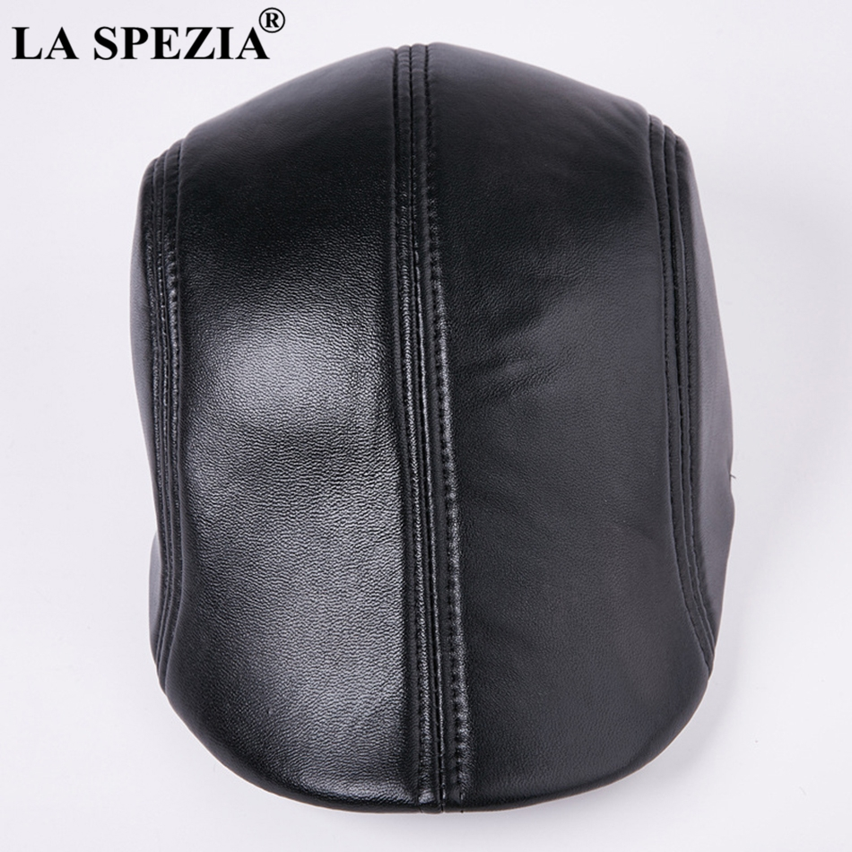 8c5804af49d Feature  Leather Berets For Men   Black Duckbill Ivy Caps   Luxury Italian  Brand Directors Flat Hats
