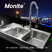 Yanksmart Bathroom Sink Faucet Torneira New Good Quality Stainless Steel Sink WashBasin Countertop SS 148525 Faucet