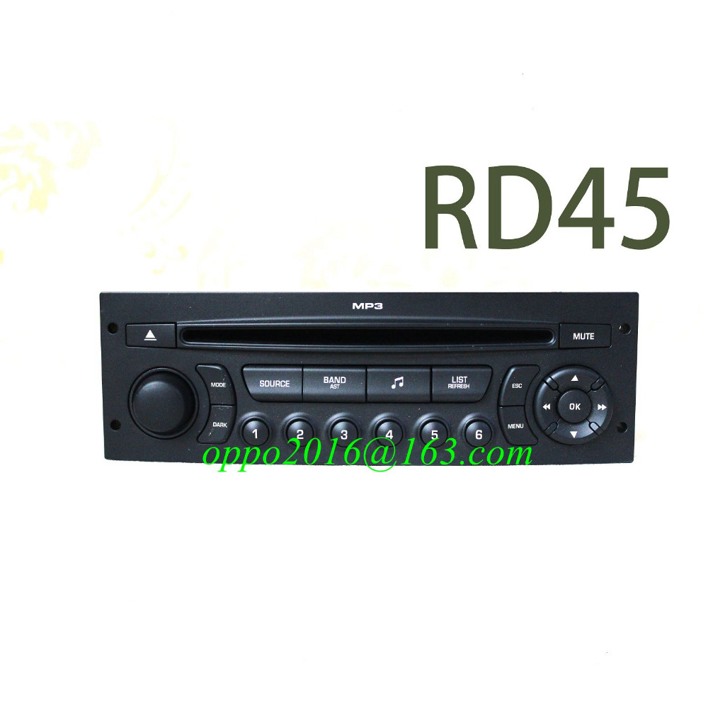 GENUINE RD45 Car Radio with CD USB Bluetooth for Peugeot 207 206 307 308 807 Citroen C2 C3 C4 C5 C8 (set VIN code by yourself