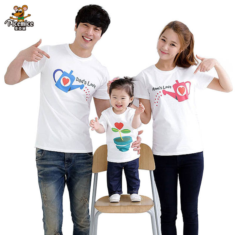 Family Set Cultivate Love Summer Short Sleeve T Shirt