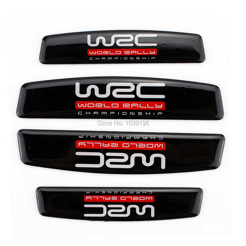 4 x voiture style porte bord garde bandes de protection Anti-collision Anti-rayure garniture porte bord garde WRC série autocollants