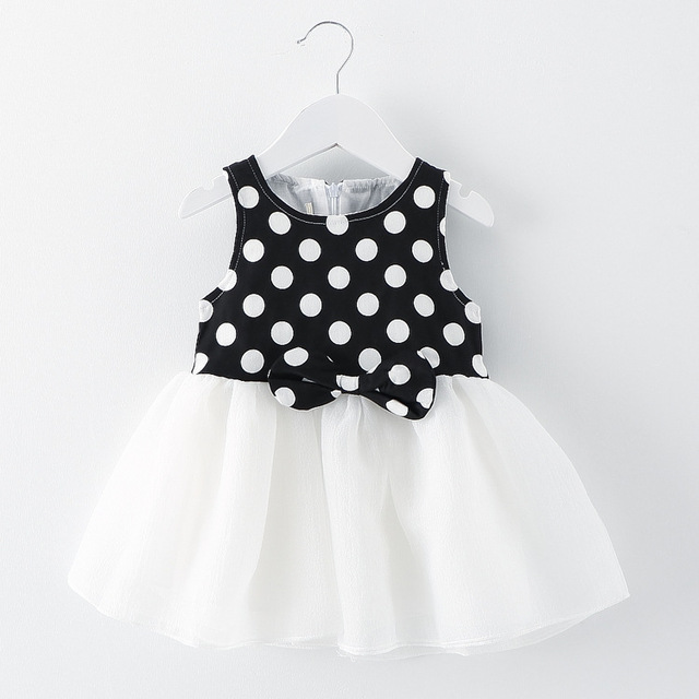 8b9e2a35 new 2016 summer princess dress polka dot girls dress baby cute wave point baby  party dresses