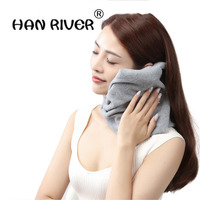 HANRIVER Polar Fleece Cervical Pillow Sleep Super Soft Neck Support Home Travel Nap Neck Pillow Pillow