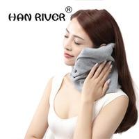 HANRIVER Polar fleece supporto del collo cervicale cuscino di sonno super soft home viaggiare pisolino cuscino del collo cuscino può disfare e lavare