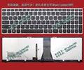 Оптовая высокое качество клавиатура для ноутбука Lenovo M50-70 Z51-70 Z70-80 США макет с Подсветкой Серебряной оправе 100% Полно испытанное