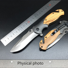 Titanium Coating 440C Stainless Steel Blade Outdoor EDC Knives PEGASI  X50 Tactical Folding Pocket Knife