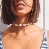 Miss JQ bohemio Natural Collar gargantilla Collar para mujer moda océano collares para playa joyas collares de moda 2019