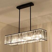 Jmmxiuz lámpara colgante de barra de hierro para comedor, restaurante, Retro Vintage candelabro de cristal, luz americana, 3 luces