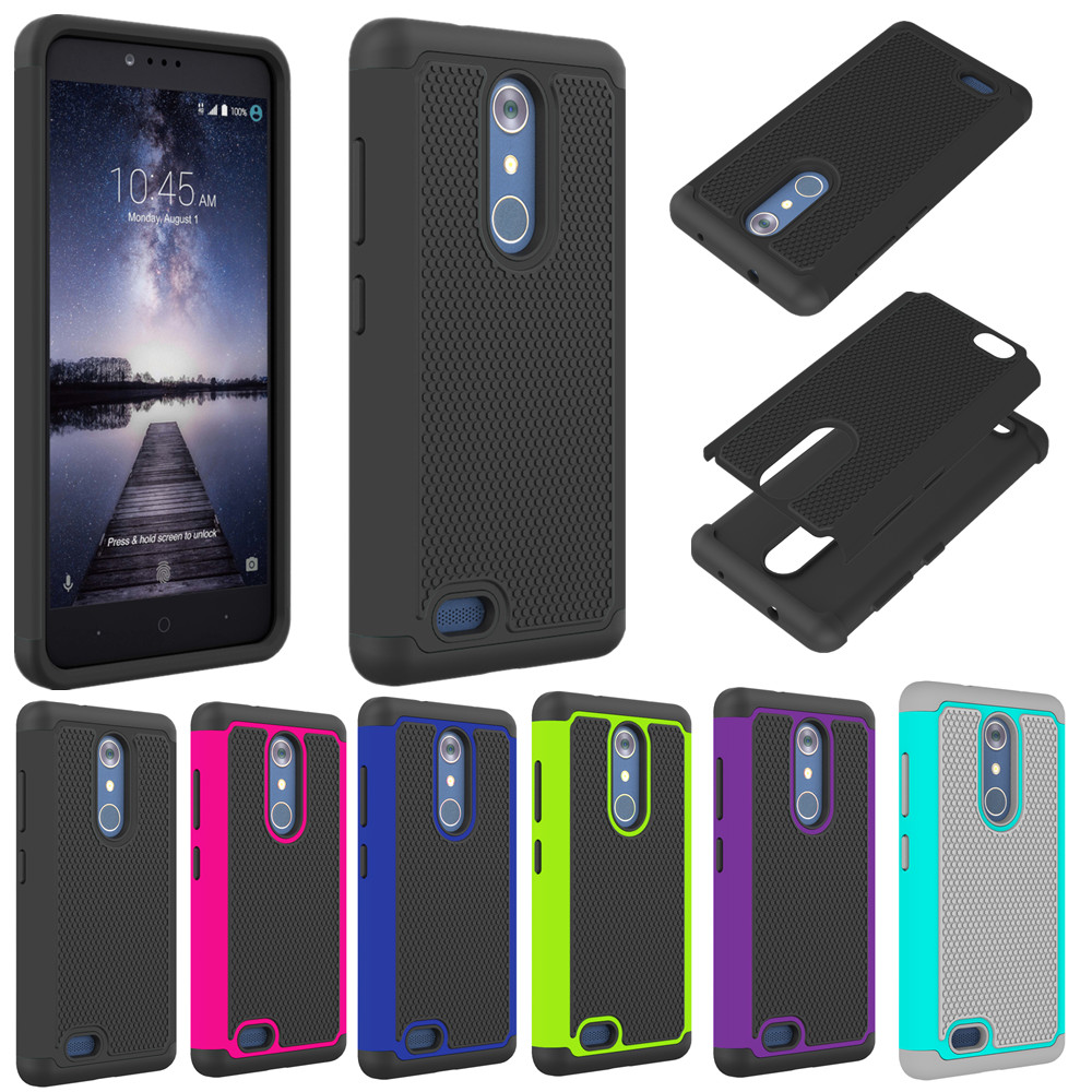 For Zte Zmax Pro Z981 Case Hybrid Shockproof Armor Matte Kickstand Peonia Electroplating Transparent Ultrathin Xiaomi Redmi Note 5 Ai Rugged Hard Cover Cases Mobile Phone Capa Coque