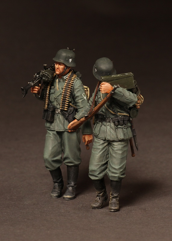 1/35 Resin Figures  Model Kits WW2 German Machine Gun Team Unassembled Unpainted
