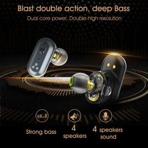 Image 3 - Hece S101 TWS kulaklıklar 4 hoparlör ses güçlü bas QCC3020 çip 10 saat kulaklık gürültü iptal S101 ses kontrolü
