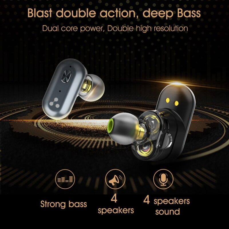 Original syllabe S101 bluetooth V5.0 basse écouteurs sans fil casque réduction du bruit syllabe S101 contrôle du Volume écouteurs - 4
