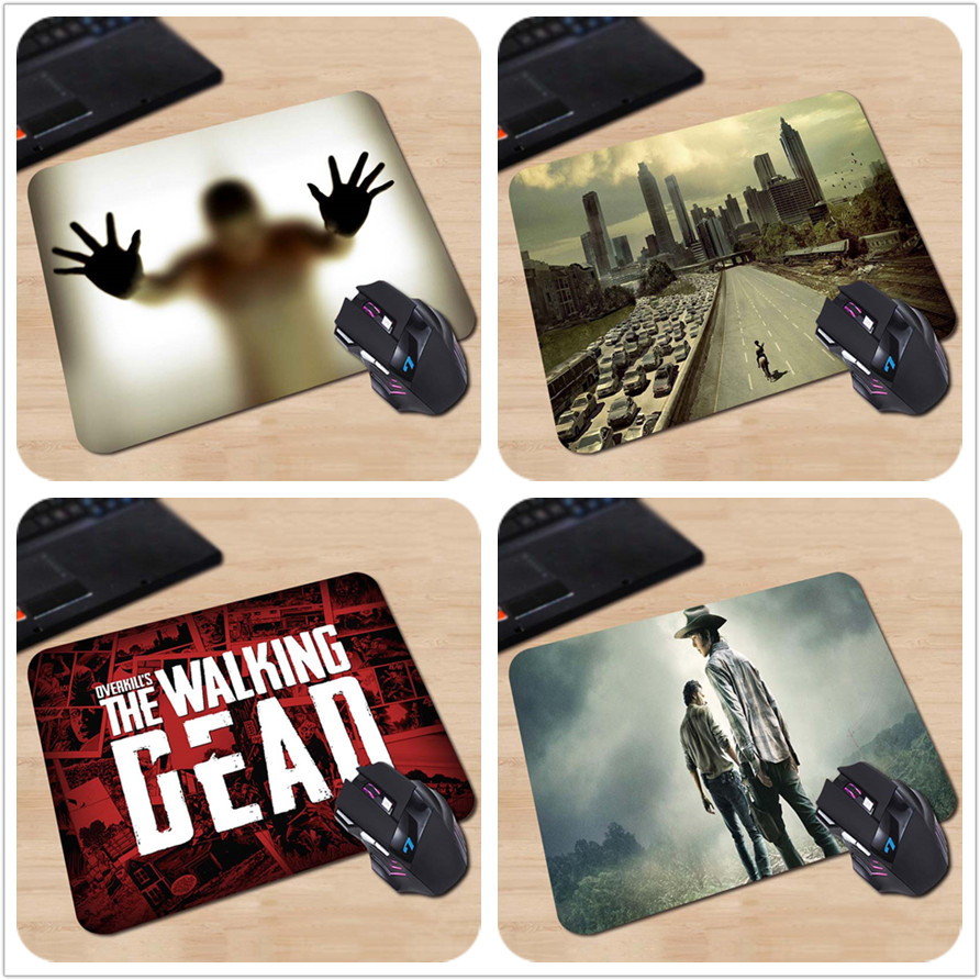 лучшая цена High quality Pattern Optical Anti-slip Computer Mouse Mat Mice Pad Gamingpads Mysterious Shadow Hands The Walking Dead Mouse pad