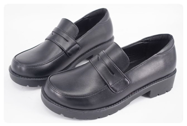 Uniform Shoes Uwabaki Japanese JK Round Toe Women Girls School Students Lolita Black Brown Cosplay Shoes G7