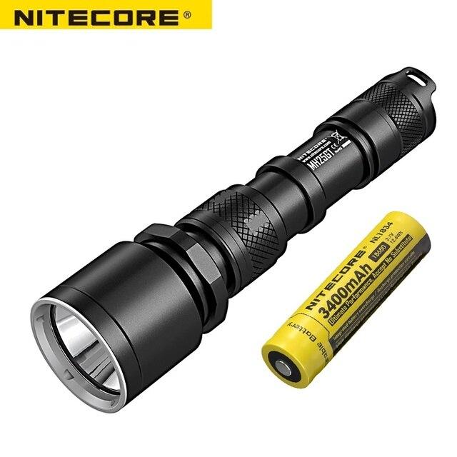 NITECORE MH25GT su geçirmez 1000LM taktik CREE XP L HI V3 LED ışık lamba el feneri torch + 18650 pil + kılıf + USB kablosu