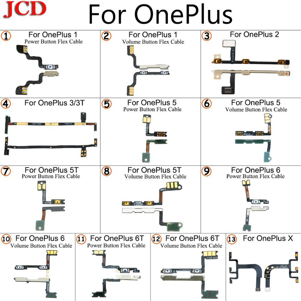 JCD touche latérale Volume d'alimentation bouton câble de remplacement pour OnePlus 1 One 2 3 3T A3000 A3003 5 5T 6 6T X accessoires de téléphone portable