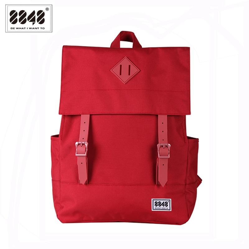 8848 Waterproof Large Capacity 15.6 Inch Laptop Bag Women Backpack Red Rucksacks Girls School Bags Mochila Masculina 173-002-021