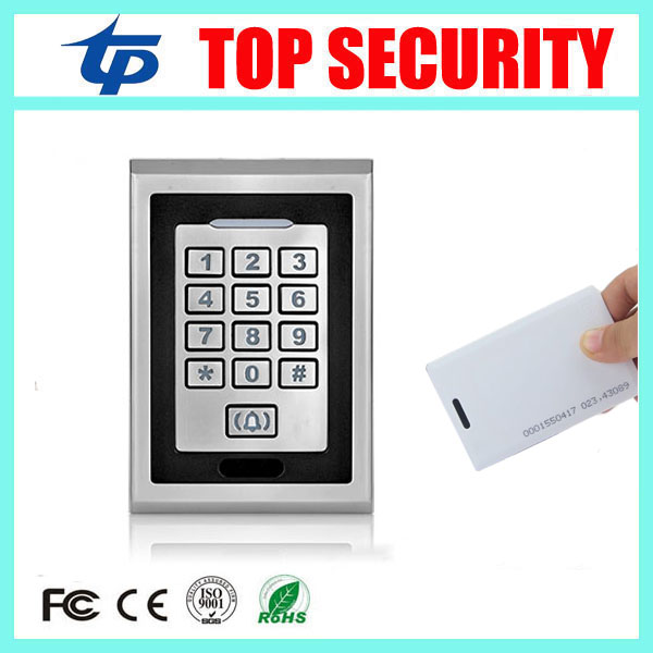 5pcs/lot 8000 users biomentric RFID card access controller standalone single door surface waterproof 125KHZ card access control good quality standalone single door access control system metal card reader 8000 users surface waterproof rfid access controller