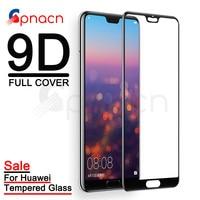 9D Full Cover Tempered Glass on For Huawei P20 Lite P20 Pro Plus Screen Protector Nova 3E 4 P Smart 2019 Protective Glass Film Phone Screen Protectors