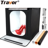 Travor 40*40cm Light Box Portable Lightbox With 3 Colors Background For Studio Photo Folding Softbox Tent Photography Box Light