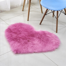 Creative Heart Shape Plush Anti-Slip Rug Home Bedside Decor carpet Floor Bathroom Rug Non Slip Living Room Bedroom Floor Mat bathroom carpets absorbent non slip floor mat soft thicken plush shower mat bath bathroom floor foam rug bedroom bedside mat