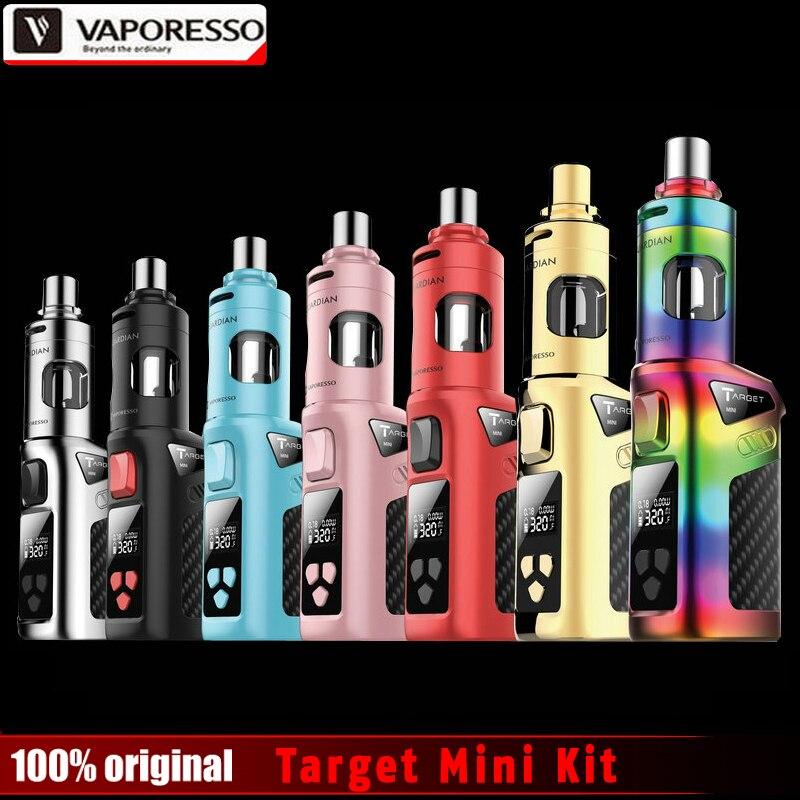 100% оригинал vaporesso целевой мини комплект 40 вт vw/vt 1400 мач аккумулятор встроенный с опекуном танк 2.0 мл