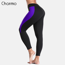Charmo Women Yoga Pants Slim Sports Gym Fitness Elastic Trousers Running Patchwork Wear Legging