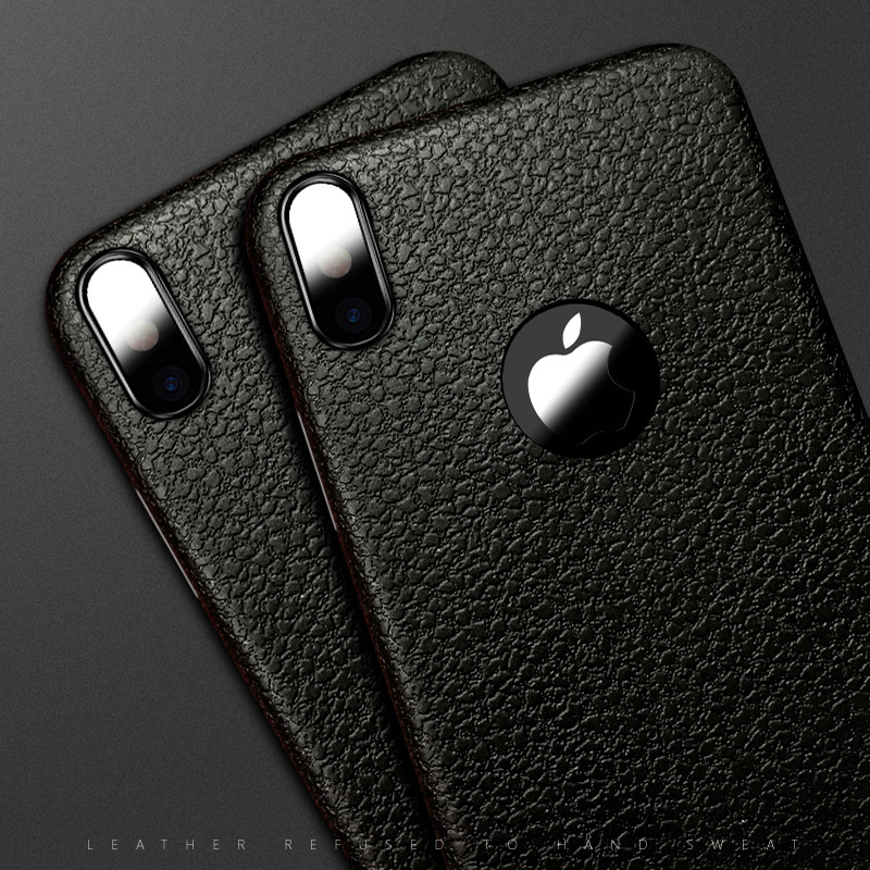 Business Ultra Thin Leather Skin Soft TPU Phone Back Case For iPhone XS MAX XR X 8 7 6S Plus Luxury Slim Shockproof Cover Fundas (3)