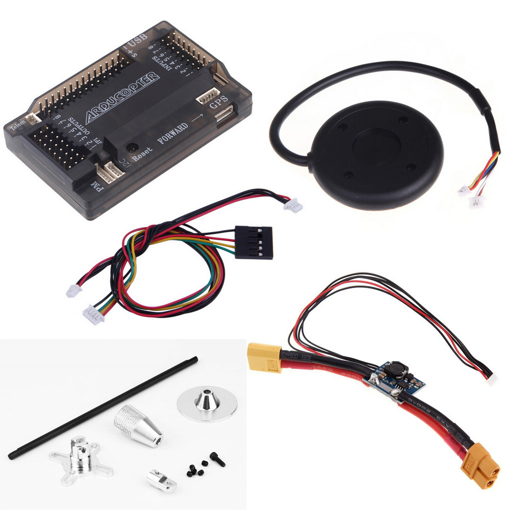 1set APM 2.6 ArduPilot Mega External Compass APM Flight Controller w/Ublox NEO-6M GPS RC Airplane Part zndiy bry top pin apm2 6 external compass apm flight controller w ublox neo 6m gps for multicopter
