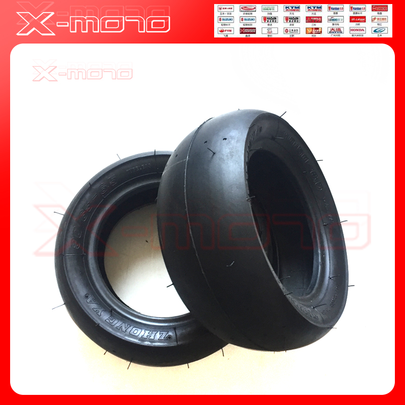 2pcs ZHONGYA <font><b>110</b></font>/50-6.5 &<font><b>90</b></font>/65-6.5 tubeless Tire For 2 Stroke Gas Electric Scooter Motorized Bicycle Wheel Spare Parts 49cc image