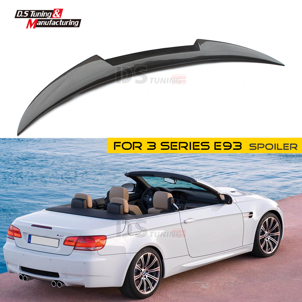 E93 Rear Spoiler Carbon Fiber M4 Style Spoiler Wing For BMW 3 Series E93 2-Door Cabriolet 2006 - 2013 335i 330i 325i 320i yandex w205 amg style carbon fiber rear spoiler for benz w205 c200 c250 c300 c350 4door 2015 2016 2017