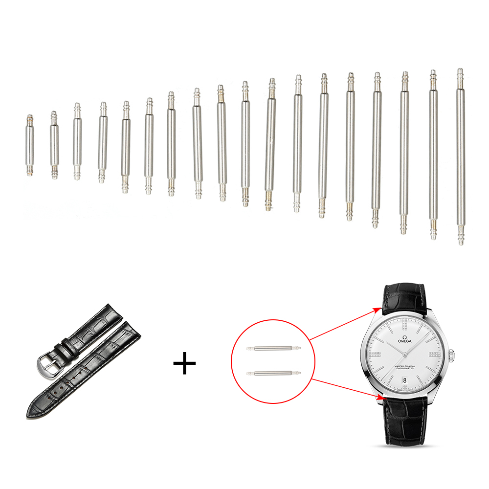 360pcs 8 25mm Watch Band Bar Wrist Strap Link Cotter Pins