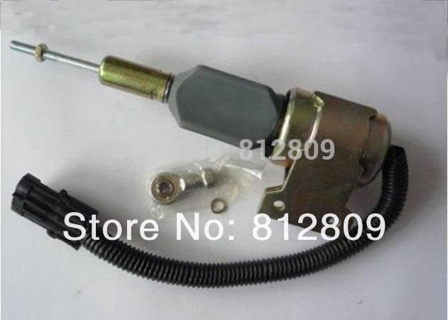 24V Fuel Stop Shut Off Solenoid Switch Shutdown Solenoid Valve 3932530 SA-4756-24 цена