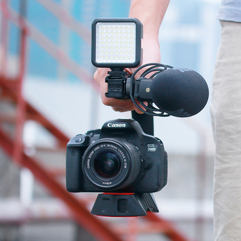 Ulanzi U-Grip Pro Triple Shoe Mount Video Stabilizer Handle Video Grip Camera Phone Video Rig Kit for Nikon Canon iPhone X 8 7 1
