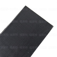 500x600x0.3mm Real Carbon Fiber Plate Panel Sheet 3K Plain Weave Glossy Surface
