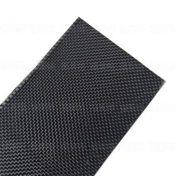 Placa de fibra de carbono auténtica de 500x600x0,3mm, lámina de Panel, superficie brillante lisa de 3K
