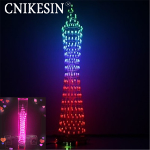 CNIKESIN diy electronic suite Guangzhou  green color small waistline DIY Light Cube kit SCM graduation electronic music spectrum