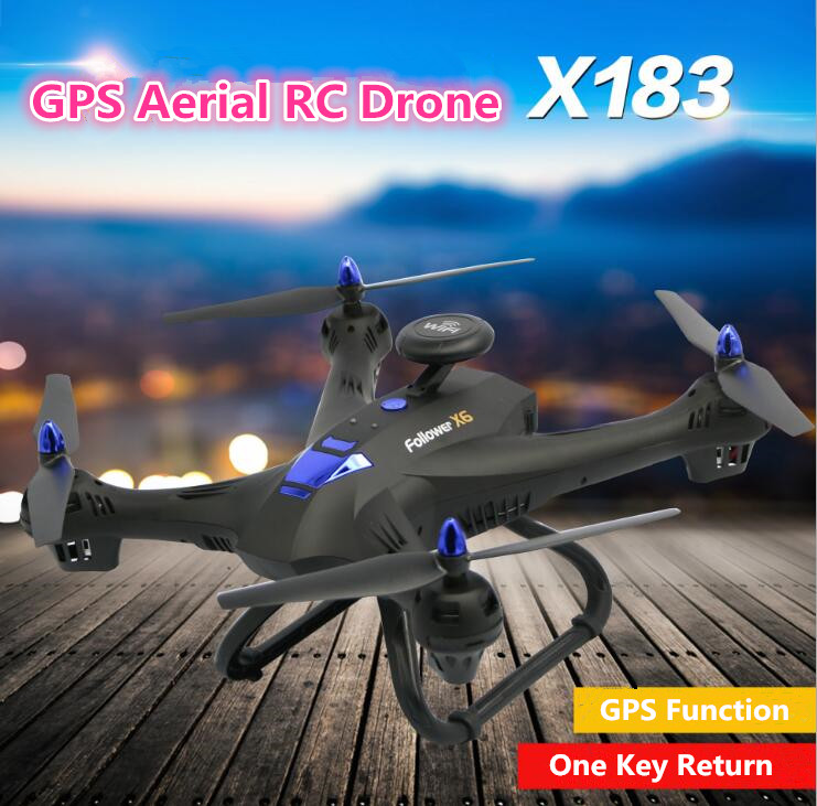 Aerial WIFI RC <font><b>drone</b></font> <font><b>X183</b></font> 2.4G attitude hold 5G <font><b>GPS</b></font> <font><b>follow</b></font> me WIFI FPV remote control helicopter with 1080P 720P camera vs CG035 image