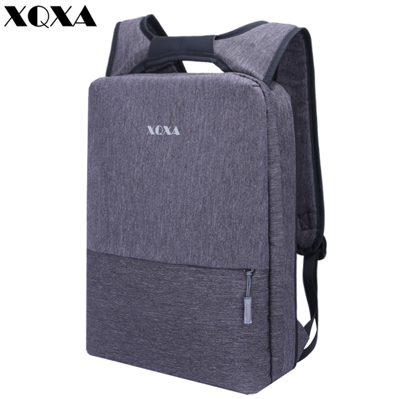 XQXA Brand Backpack Men 15 inch Laptop Business Backpack School Bag Backpack for Teenagers Travel Mochila Gray Laptop Backpack стоимость