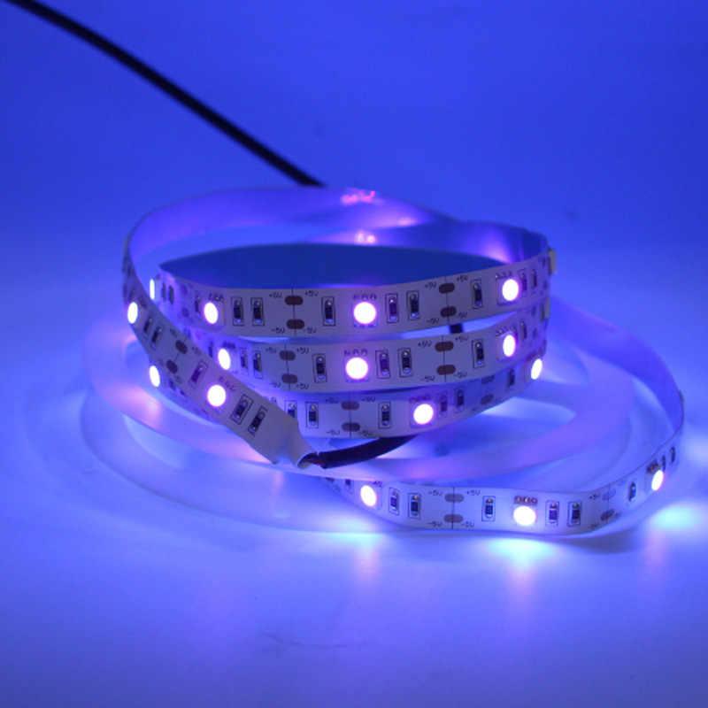 Светодиодный УФ ультрафиолетового пурпурного полосы света 395nm-405nm светодиодный черный свет не водонепроницаемый USB/с питанием от аккумуляторной батареи AAA Лента лампы 5 V