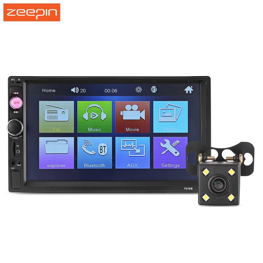 Nouveau lecteur Radio Zeepin 7010B 7 pouces 2 Din 12 V Bluetooth voiture MP5 Support de lecteur caméra à molette est disponible