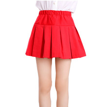 Red White Kids Baby Girls Pleated Skirt 2019 Summer Autumn Big Cotton School Children Clothes Age 4 6 8 10 12 14 Y
